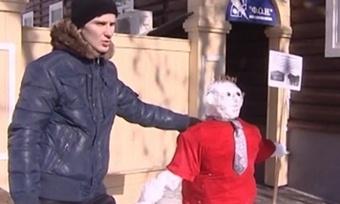 Репортаж ТВ-7 об акции «Снеговик-активист»