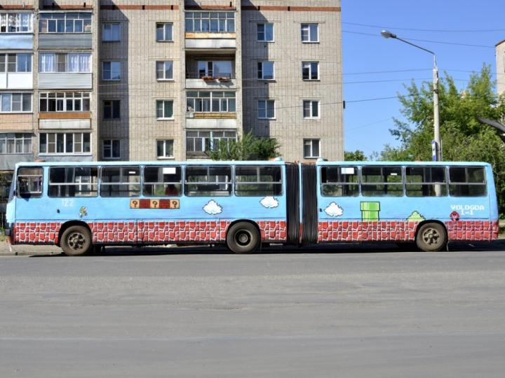 По Вологде ездит автобус с «