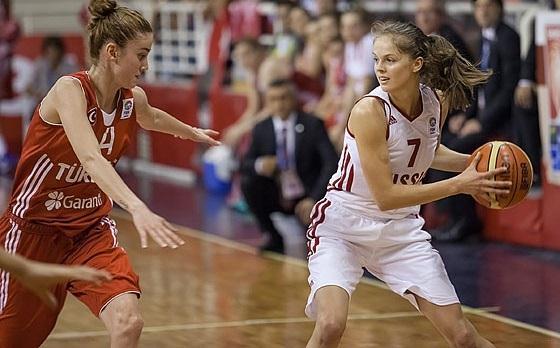 Курянки в составе молодёжной сборной России по баскетболу разгромили Испанию на чемпионате мира